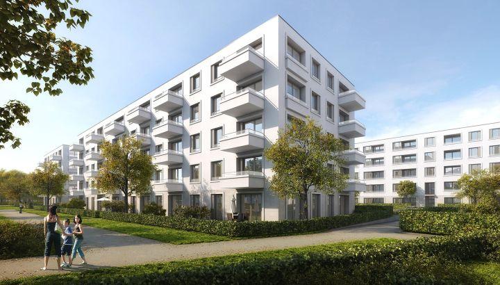 Neue Eigentumswohnungen auf dem ehemaligen Postgelände in München